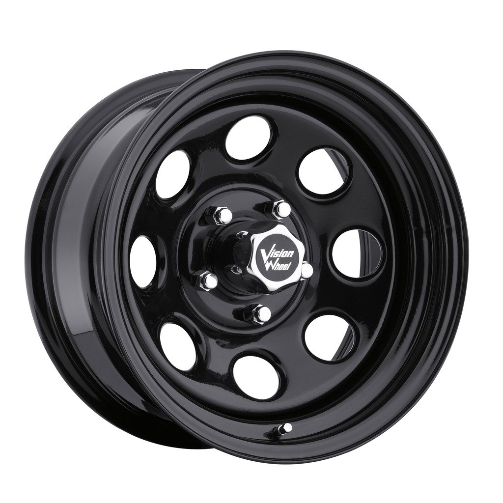 Vision 85 Soft 8 Black Wheel with Painted Finish (17x9/8x165.1mm)