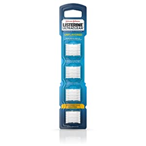 Listerine Ultraclean Access Disposable Snap-On Flosser Refill Heads For Proper Oral Care, Unflavored, 28 Count