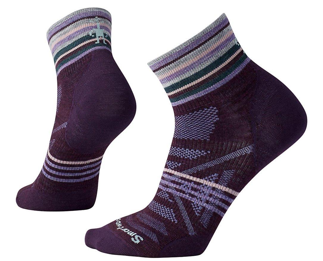 SmartWool Women's PhD Outdoor Ultra Light Pattern Mini Socks (Bordeaux) Medium