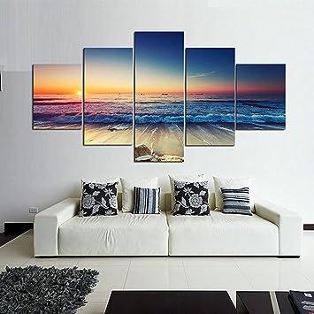 LwqArt 5 Stück Extra Large Moderne Seascape Artwork Galerie ...