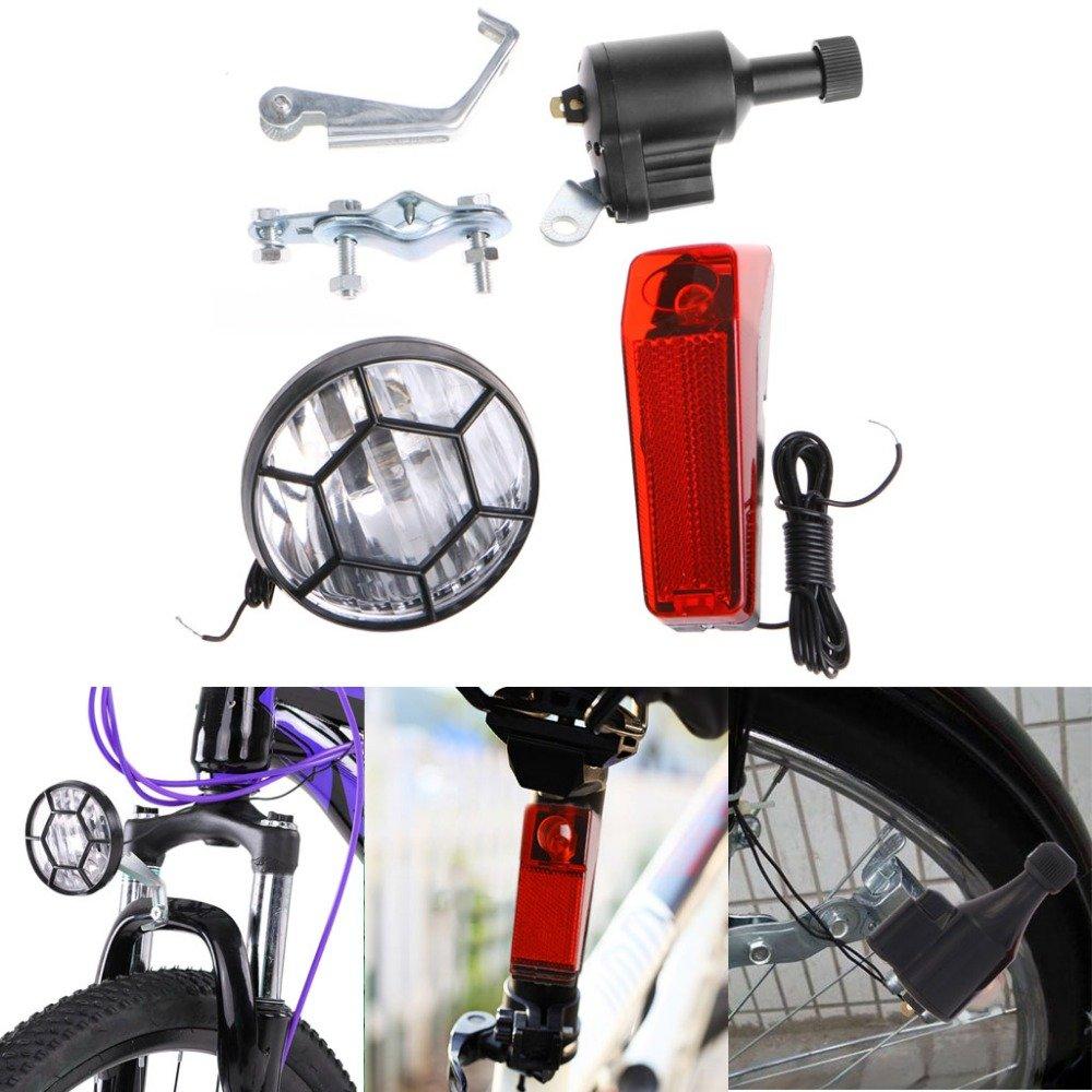 Universal Generator Bicycle Headlight taillight Light Bike Dynamo No Batteries