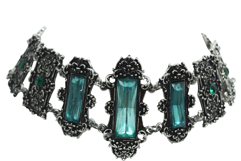 Gothic Choker Vivian Choker Necklace Gothic Elegant Victorian Jewelry (Mint Green)
