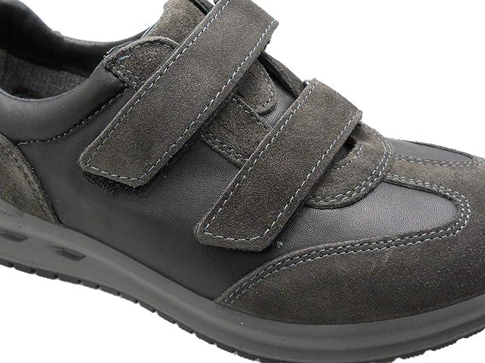 G0319 Grigio Piombo Sneaker Scarpa Uomo Plantare Ortopedica