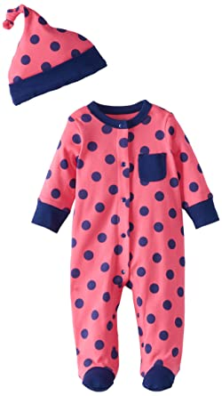 bdd4cdd833c3d Amazon.com  Offspring - Baby Apparel Baby Girls  Newborn Doti Footie ...