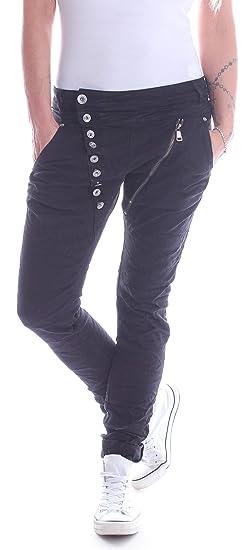 Style-Station Damen Boyfriend Jeans Haremshose Baggy Hose Hüftjeans Schwarz  XS 34 S 36 M 38 L 40 XL 42  Amazon.de  Bekleidung d3773ea886