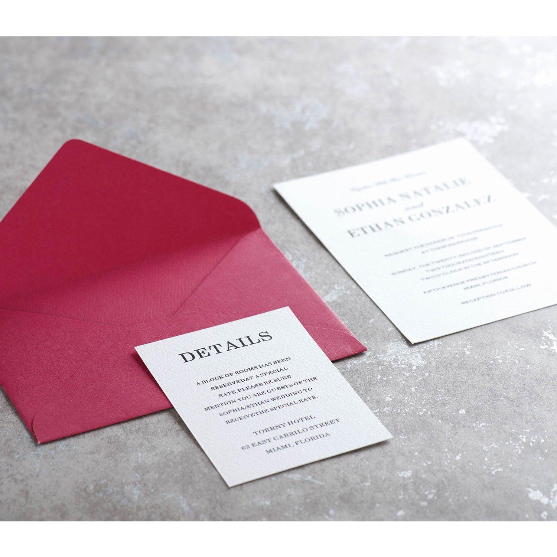 Amazon.com : MAGJUCHE Personalized Custom Wedding Enclosure Cards ...