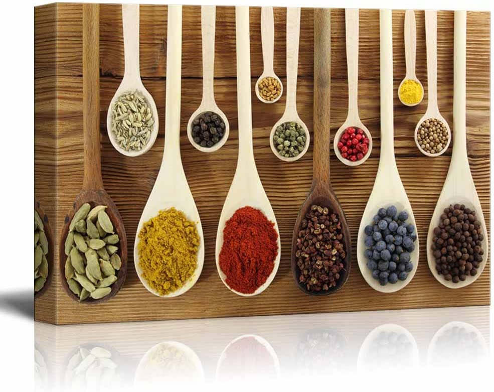 wall26 - Colorful Spices in Wooden Spoons - Canvas Art Wall Art - 12