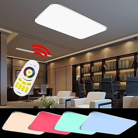 HG® 90W LED Deckenlampe Markantes Design RGB Deckenbeleuchtung Badezimmer  640-8100LM IP44 Lampe Energiespar 180V-265V 50HZ