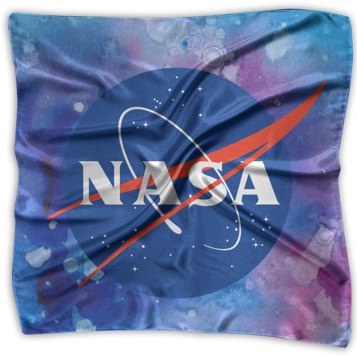 NASA Retro Logo Vintage Womens Square Polyester Satin Neck Head Scarf Scarves Set