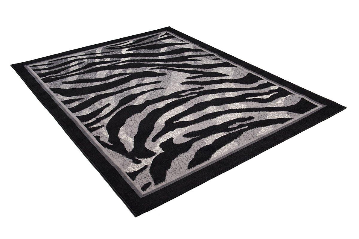 Tapiso Dream Teppich Kurzflor Kurzflor Kurzflor Grau Schwarz Creme Modern Meliert Africa Jaguar Zebra Tiermotiv Muster Bordüre Designer Wohnzimmer ÖKOTEX 220 x 300 cm 8b73c0