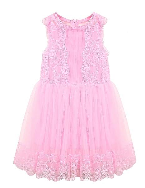 9c7c1f492 Amazon.com  Hotouch Girls Lace Bridesmaid Dress Long A Line Wedding ...