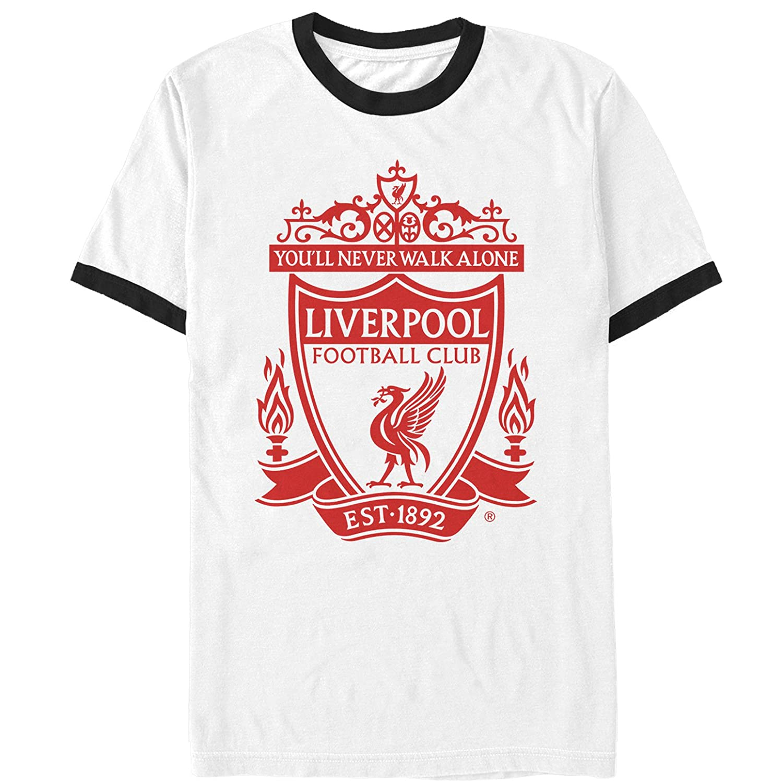 5776166af15 Amazon.com: Liverpool Football Club Men's Classic Bird Shield 1892 Ringer T- Shirt: Clothing