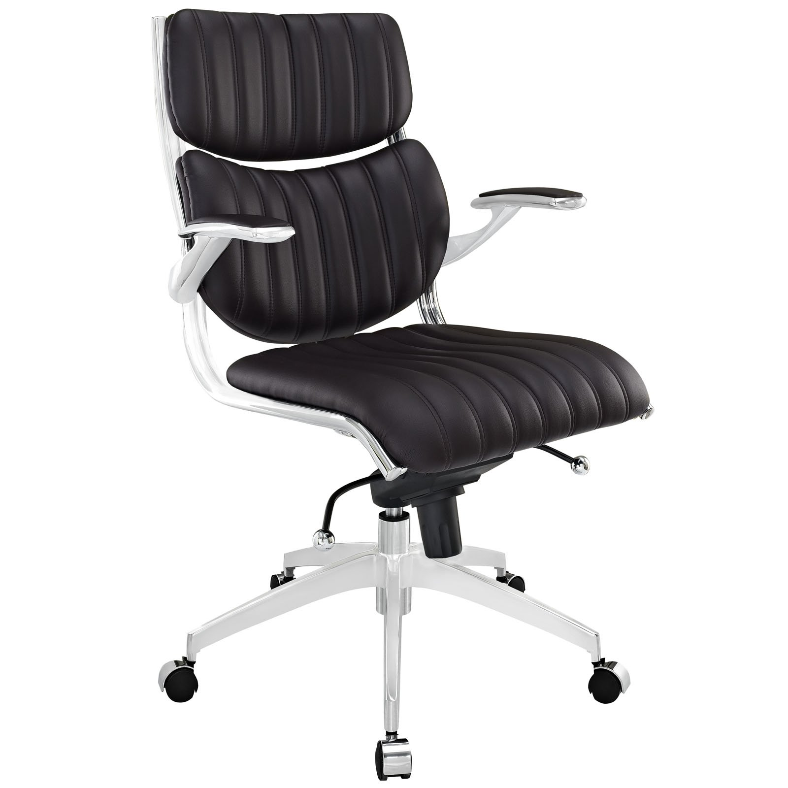 Modway Escape Mid-Back Office Chair, Brown