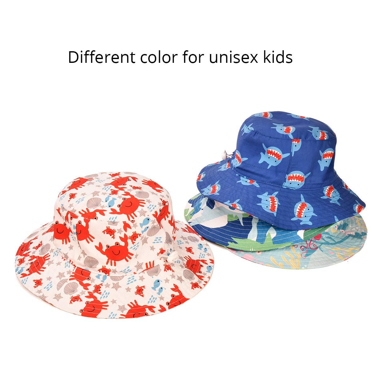 3276261c0dfb1 Amazon.com  SOMALER Toddler Kids Sun Hats Baby Wide Brim UV Sun Protection  Beach Hat Boys Girls Summer Bucket Cap  Clothing
