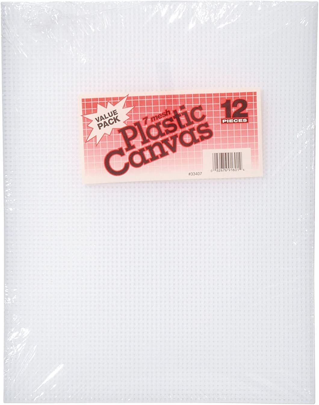 "Darice Plastic Canvas 7 Count 10.5/"" x 13.5/"" 12//pkg-clear"