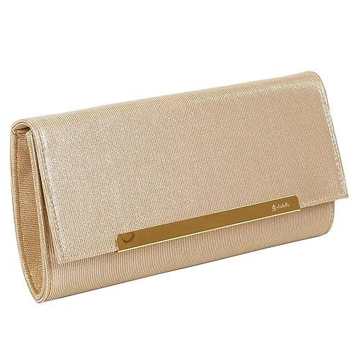 Bluebags Bolso de Fiesta de El Caballo con Solapa, Cartera de Mano para Mujer, Dorado (Oro), 2 x 14.5 x 28.5 cm: Amazon.es: Zapatos y complementos