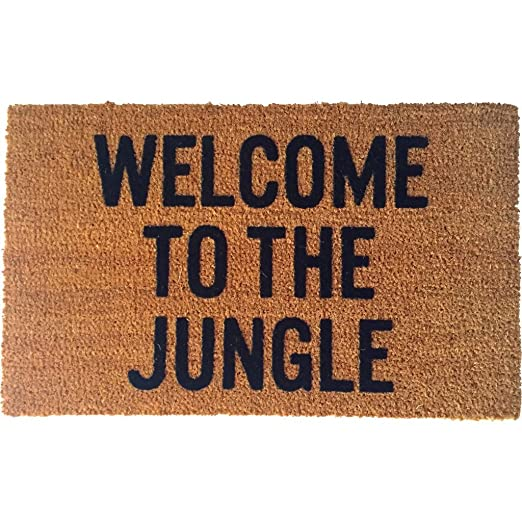 Amazon.com  Reed Wilson Design Welcome to the Jungle Doormat - Flocked Lettering  Garden u0026 Outdoor  sc 1 st  Amazon.com & Amazon.com : Reed Wilson Design Welcome to the Jungle Doormat ... pezcame.com