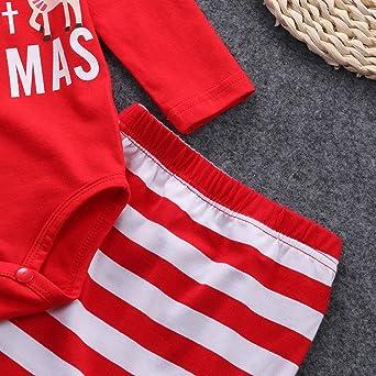 ❤ Conjunto de Navidad para bebé, recién Nacidos Baby Girls Boys Outfits Clothes 2pcs Deer Romper + Pants Set Absolute: Amazon.es: Ropa y accesorios