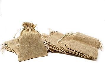 El. 25 Bolsas de Yute 12 x 17 cm: Amazon.es: Hogar