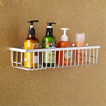 Wall Mounted Aluminum Bathroom Shelves, Metal Shower Caddy Basket ...