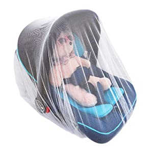 Baby Mosquito Net, Baby Stroller Mosquito Net, Bug Net for Stroller, Car Seats, Bassinets and Carriers, Fine Mesh Protection Against Mosquitos