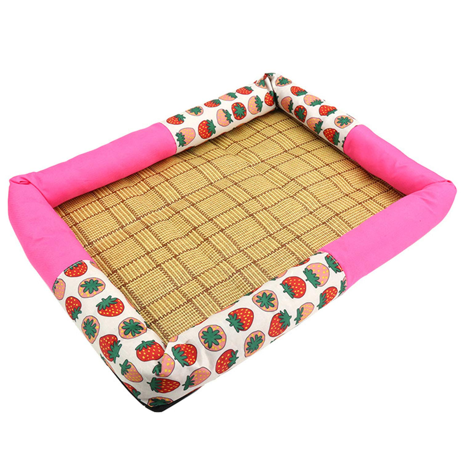 pink-red XL 6070cm (within 20kg) pink-red XL 6070cm (within 20kg) Summer Pet Nest, Pet Cool Pad, Suitable for Cats and Dogs, Waterproof, Non-Slip, Eco-Friendly Materials, Dogs Can Sleep and Play, Help Keep Your Pets Cooler Avoid Overheating, Ideal for F