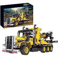 Technic sleepvoertuig, bouwstenen, 1250 delen kraanvrachtwagen model bouwset, MOC-bouwvoertuig, bouwset klembouwstenen…