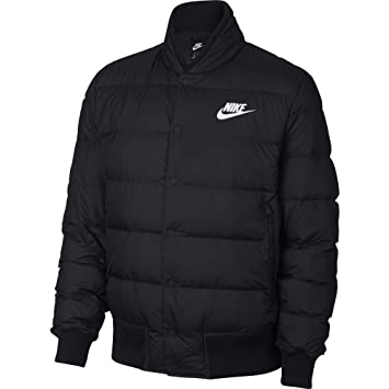 Nike Herren Jacke Down Fill Bomber, Schwarz (Black/White), S: Amazon ...