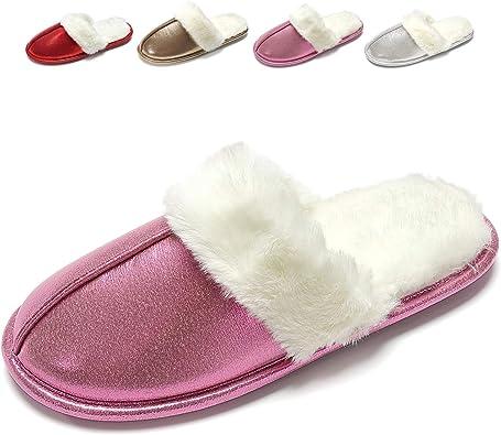 Lady Women Sheepskin Eco Leather Slippers Wool Shoes Size 3 4 5 6 7 8 Flip-Flop