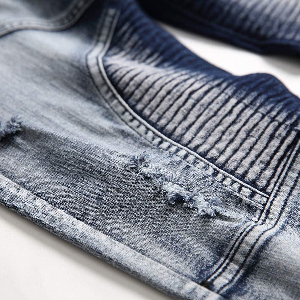 Hombre Vpass Pantalones Vaqueros Para Hombre Pantalones Casuales Moda Jeans Rotos Trend Largo Pantalones Pants Skinny Pantalon Fitness Jeans Largos Pantalones Ropa De Hombre Deportes Y Aire Libre Centrocen Cl