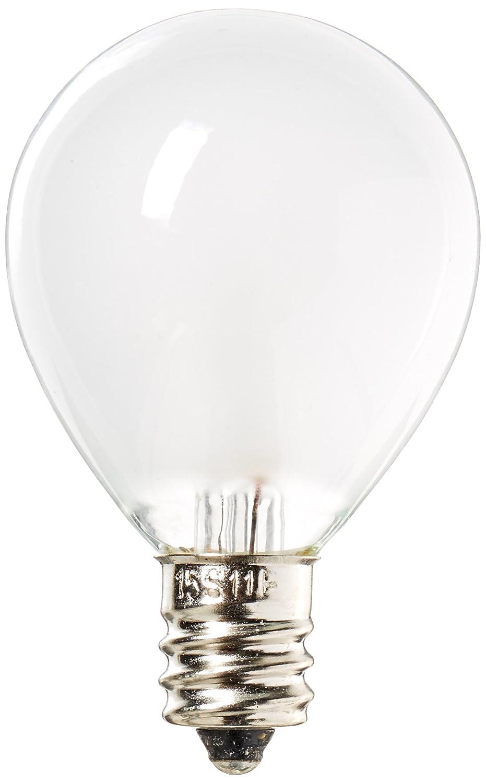 Eiko 15S11-F 120V 15W S-11 Candelabra Screw Base Frosted Halogen Bulbs