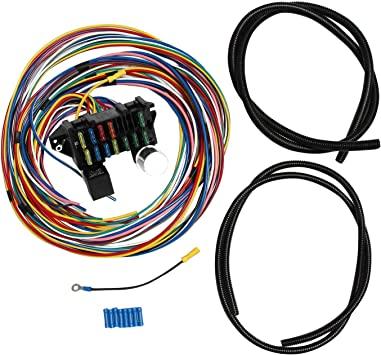 [SCHEMATICS_4NL]  Amazon.com: SUPERFASTRACING 12 Circuit Universal Wiring Harness Muscle Car  Hot Rod Street Rod XL Wires: Automotive | 12 Circuit Universal Wiring Harness |  | Amazon.com