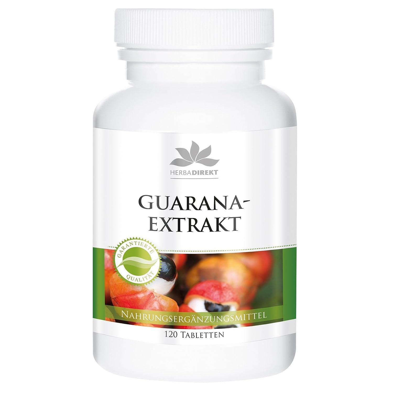 Guaraná 1200mg – Sustancia pura– 120 comprimidos – herba direkt