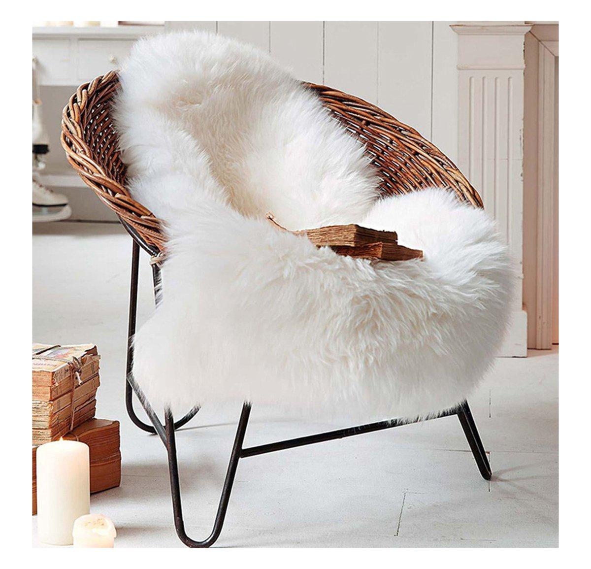 Ultra Soft Faux Sheepskin Fur Rug Environmental Nursery Lambskin Area Shag Baby Chair Cover Seat Pad 28'' x 45''