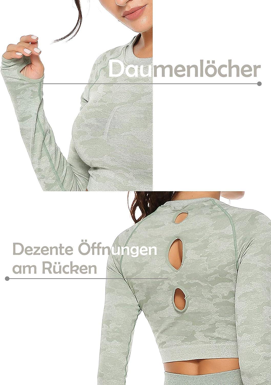 INSTINNCT Damen Nahtlose Top Grün
