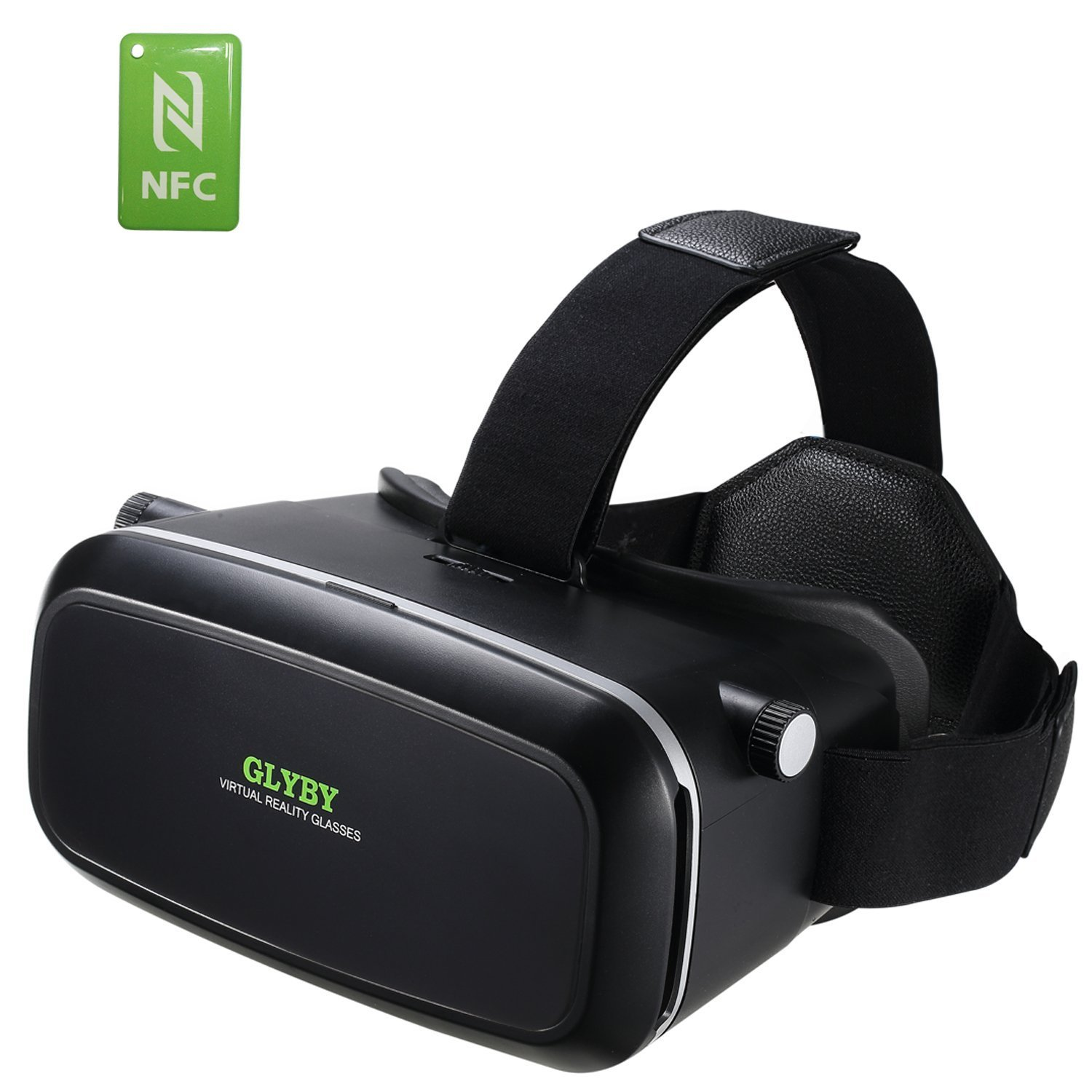 45482f8e844 2016 Glyby Virtual Reality Headset (3.5 to 6.0 Inch Screens)– 3D VR Glasses  Headset BOX for Video Games with NFC Tag – Samsung Galaxy Note 2