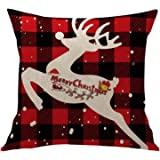 Soft Pillow Case Christmas Pattern Printed Decorative Polyester Square Throw Pillow Covers Cushion Cases Pillow Cases…