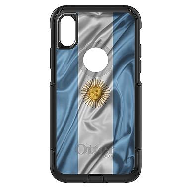 06544077682 DistinctInk - Carcasa para iPhone X/XS, diseño de la Bandera de Argentina