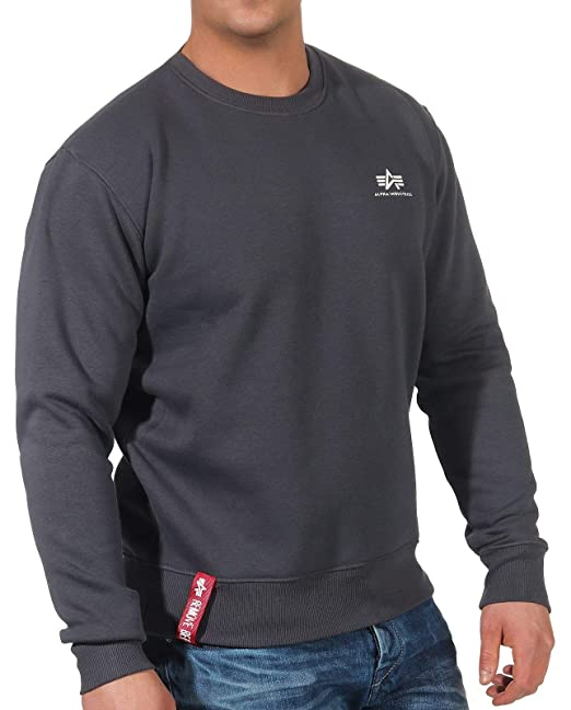 Alpha Industries Basic Smaill Logo Sudadera: Amazon.es: Ropa y accesorios