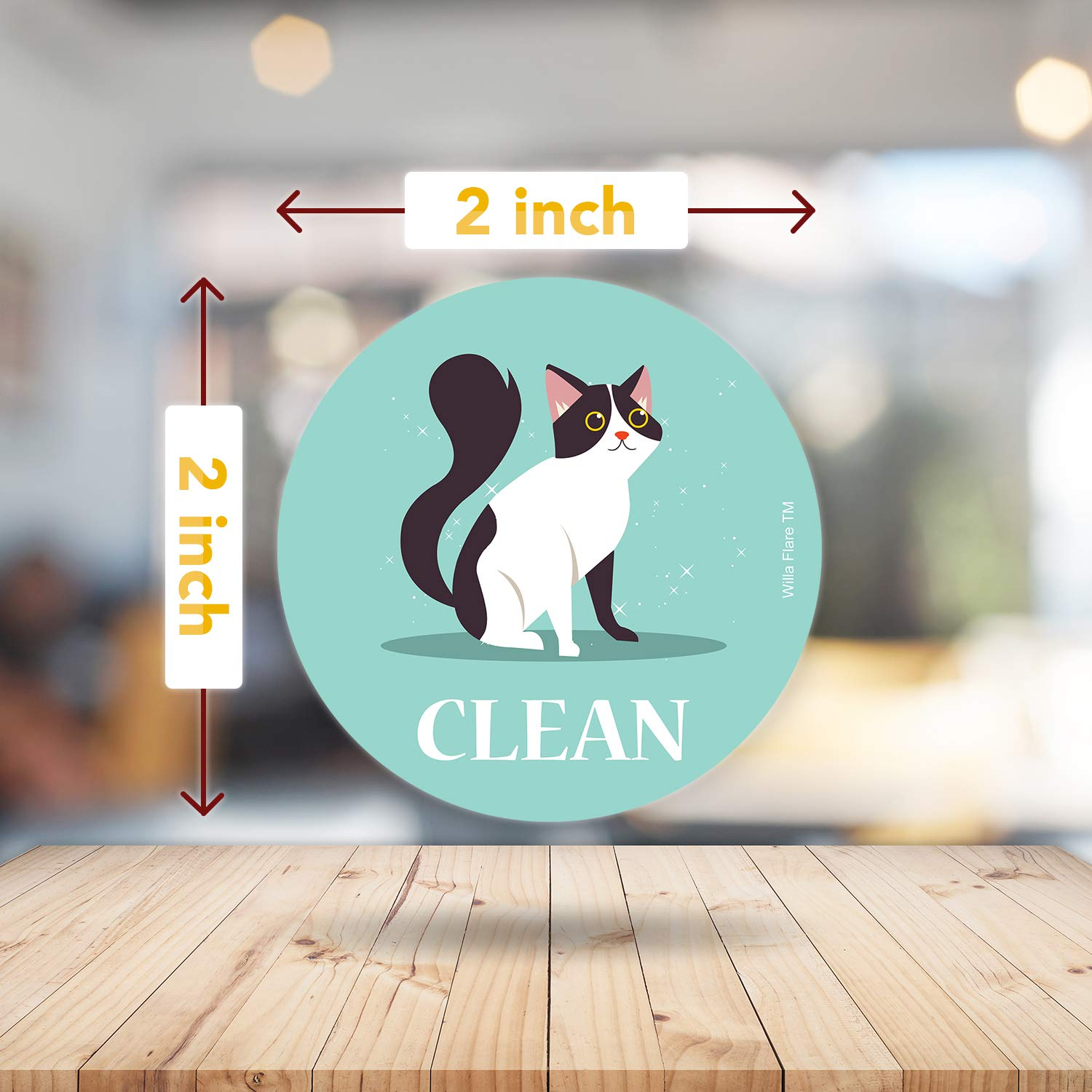 2 inches Double Sided Kitchen Label for Home Organization American Shorthair Funny Clean Dirty Dishwasher Magnet Cat Accessories and Funny Cat Stuff Gifts Dishwasher Magnet Clean Dirty Sign