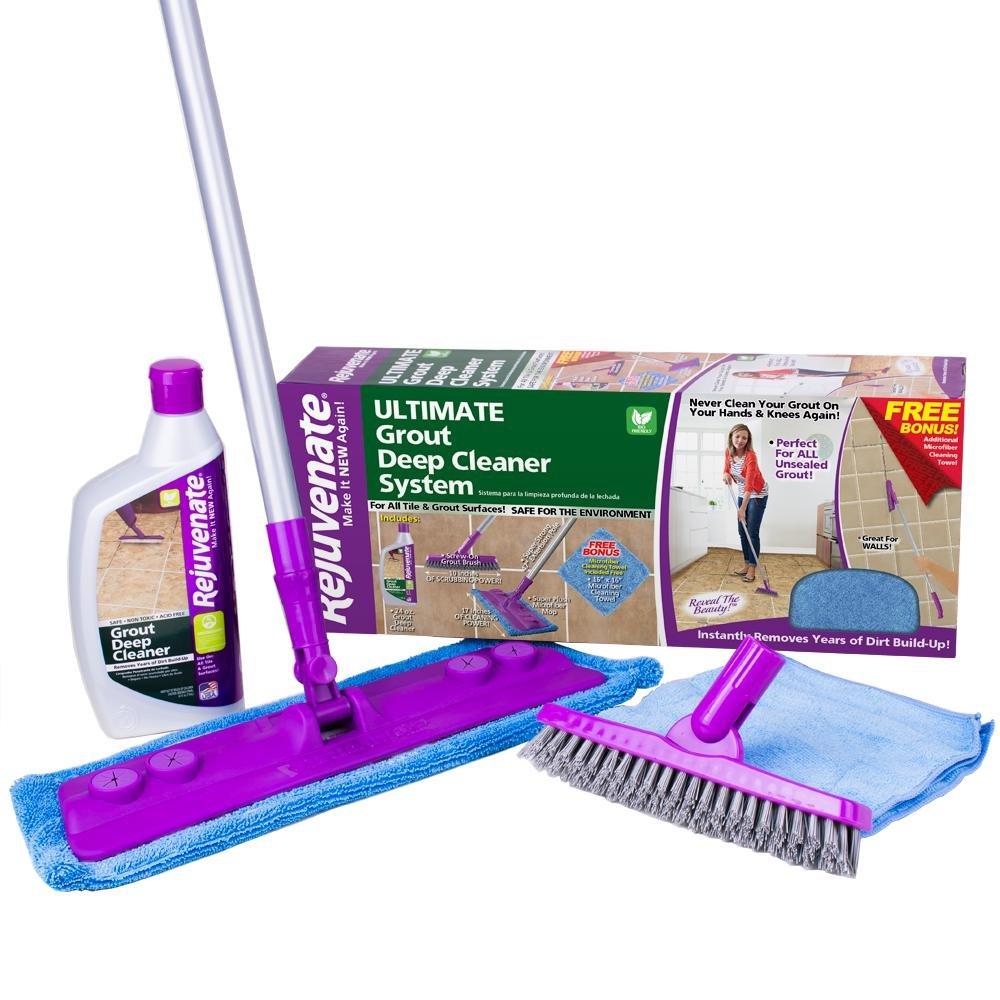 Rejuvenate Deep Grout Cleaner Brush System, Acid Free