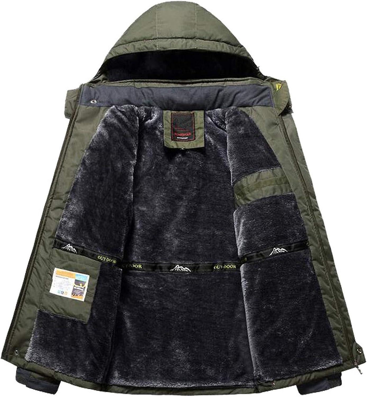 Winter Fleece Military Down Jacket Coat Men Windproof Waterproof Outwear Down Parkas