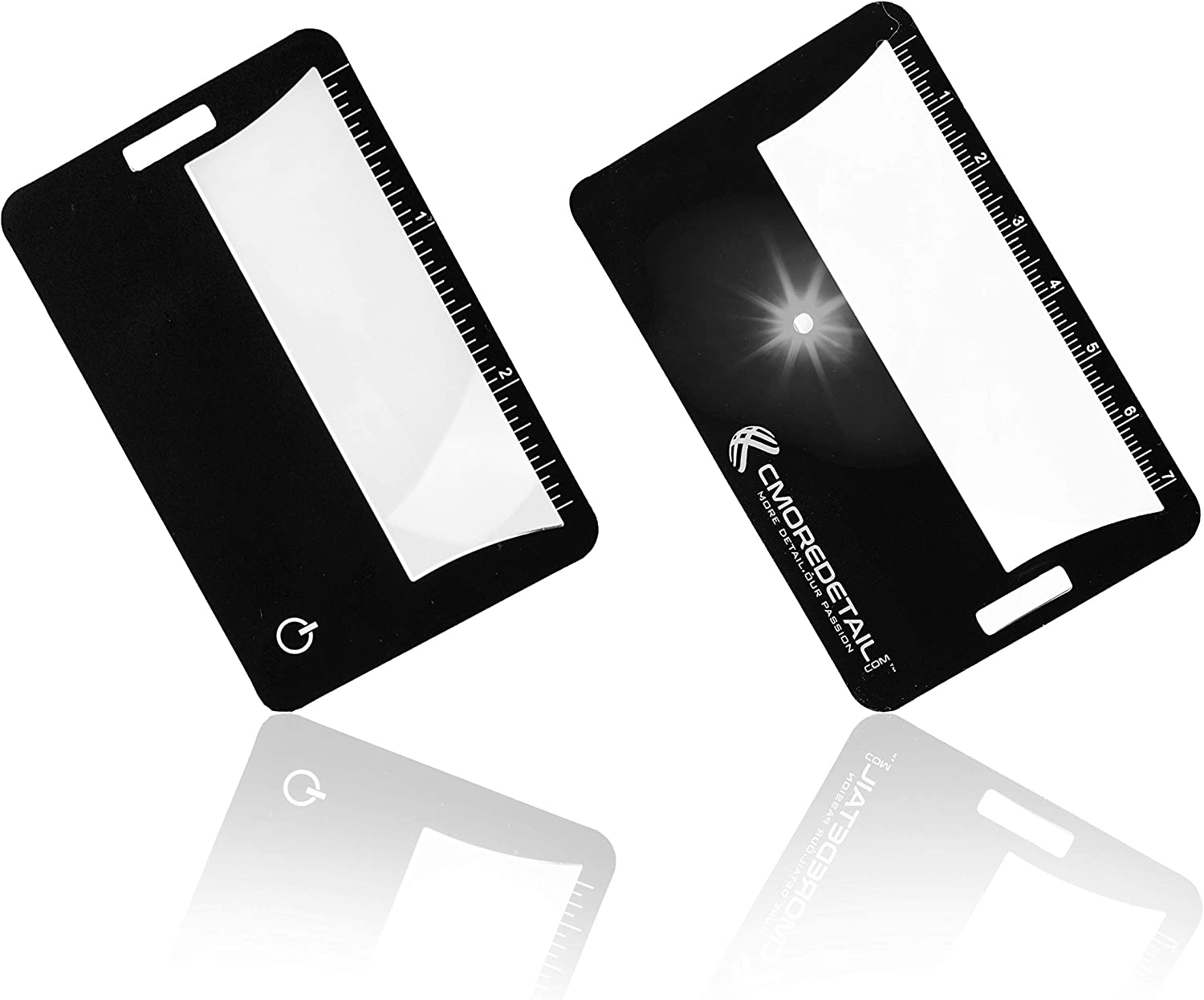 Use as Pocket Magnifying Glass with Light for Travel or Reading Magnifier Lens for Menus 2 Lighted Magnifiers 3X Lighted Fresnel Lens Credit Card Size Magnifier 6X 3X Pocket Magnifier with Light