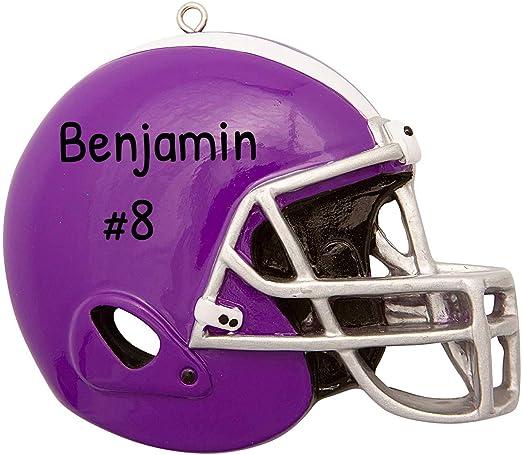 College Football Christmas 2020 Amazon.com: Personalized Purple Football Helmet Christmas Tree