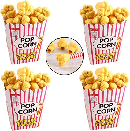 1 Box Popcorn Box Eraser Children Kids School Stationery 2019 Student Prize L5H9