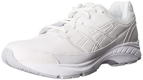 bf273c2b5e ASICS Men's Gel-Foundation Workplace (4E) Walking Shoe,White/Silver ...