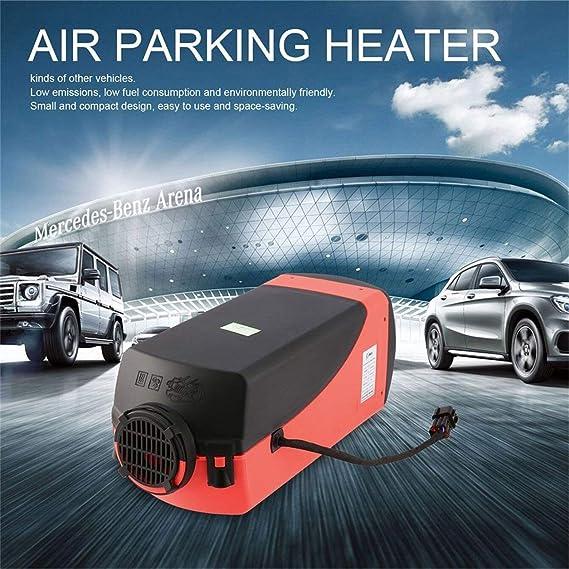 Calentador,12V 2Kw Calentador De Aire para Un Solo Interruptor Hoyos con Universal del Silenciador para El Tanque Vent: Amazon.es: Coche y moto