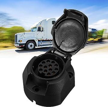 13 Pin 12V Car Caravan Trailer Plug Socket Connector Adapter Towbar Towing Pin 1