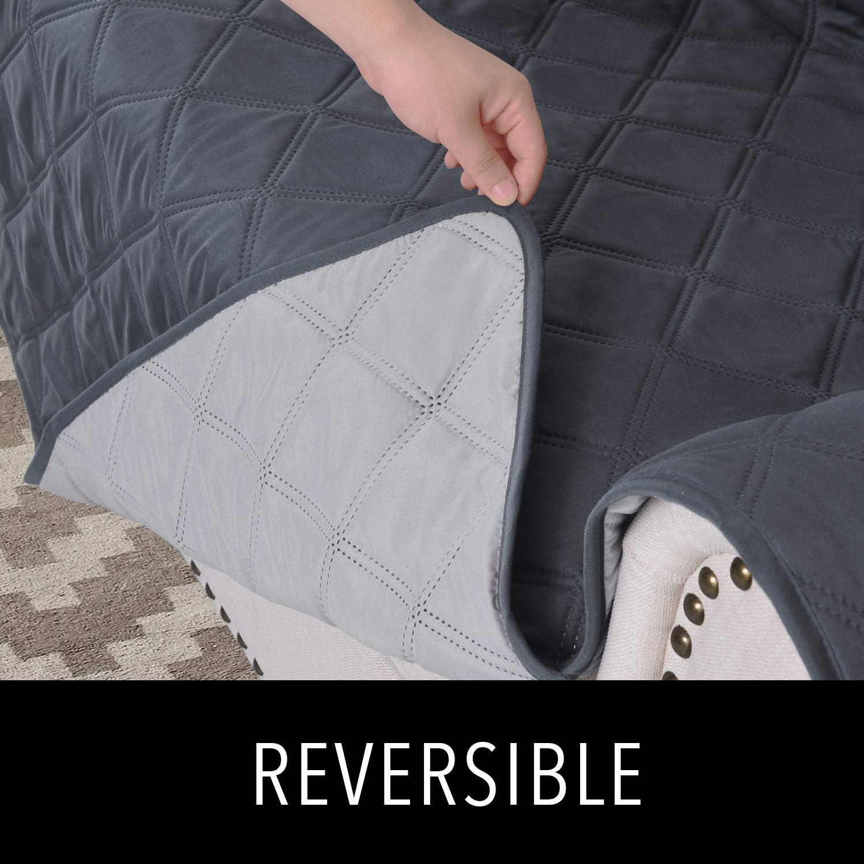 Slipcovers for Recliner RHF Diamond Oversized Recliner Cover /& Oversized Recliner Covers Recliner-Oversized:Charcoal//Beige Recliner Covers for Large Recliner Recliner Chair Covers Double Diamond