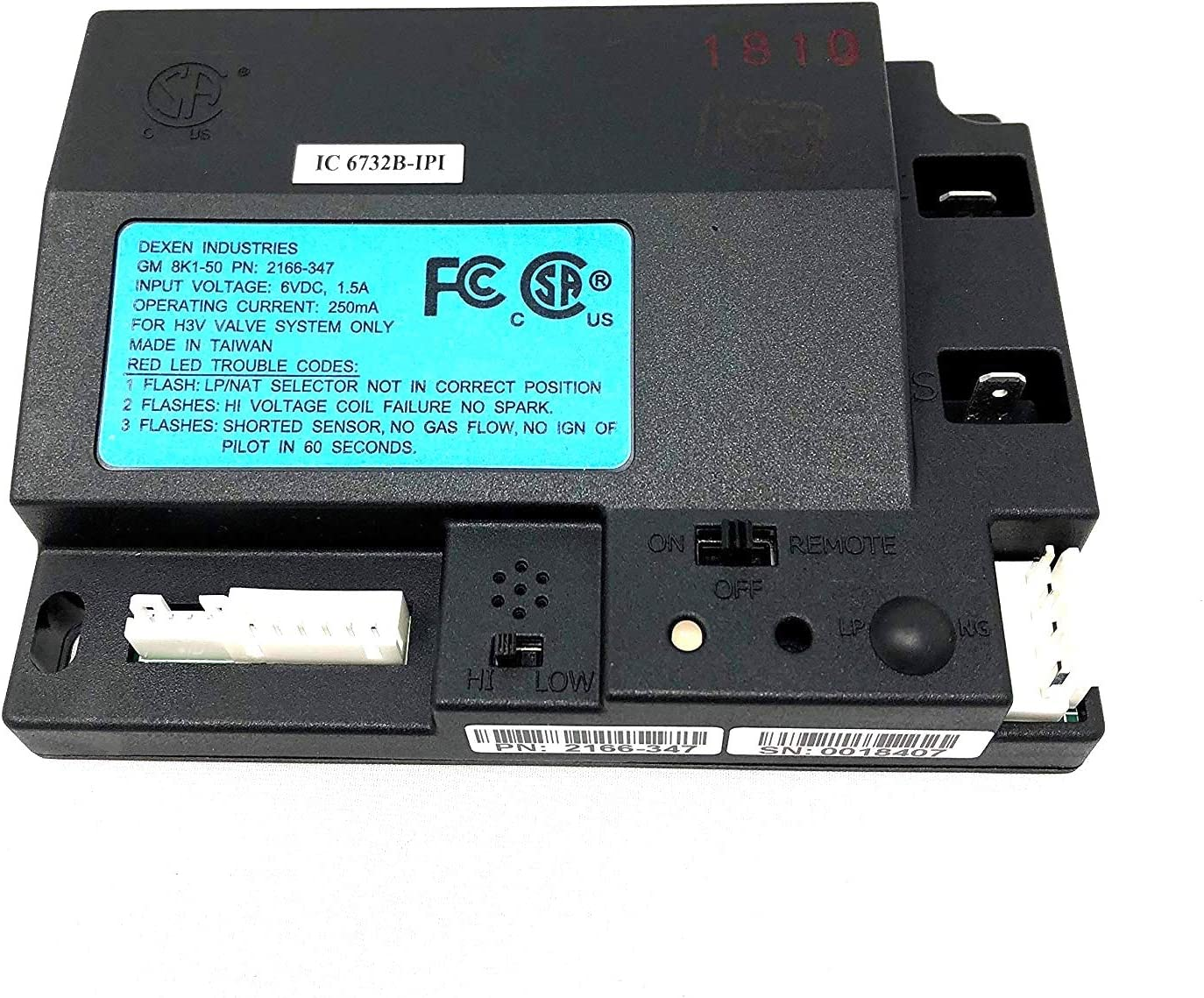 Hearth and Home Technologies HHT IPI Control Module (2166-347)